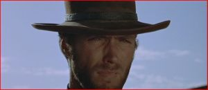 Clint Eastwood interpretando a El manco